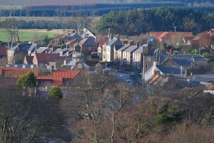 View of Ayton village looking North